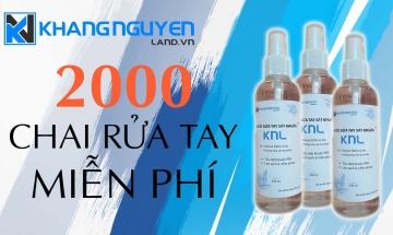 Khang Nguyễn Land tổ chức tặng miễn phí 2000 chai nước rửa tay sát khuẩn chung tay chống dịch Covid-19