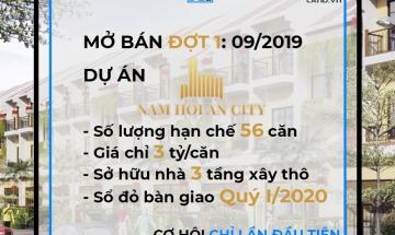MỞ BÁN 56 CĂN NHÀ PHỐ, BLOCK CL10-11, NAM HỘI AN CITY